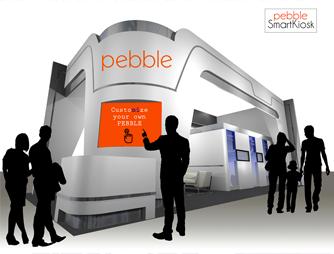 pebble smartkiosk vector